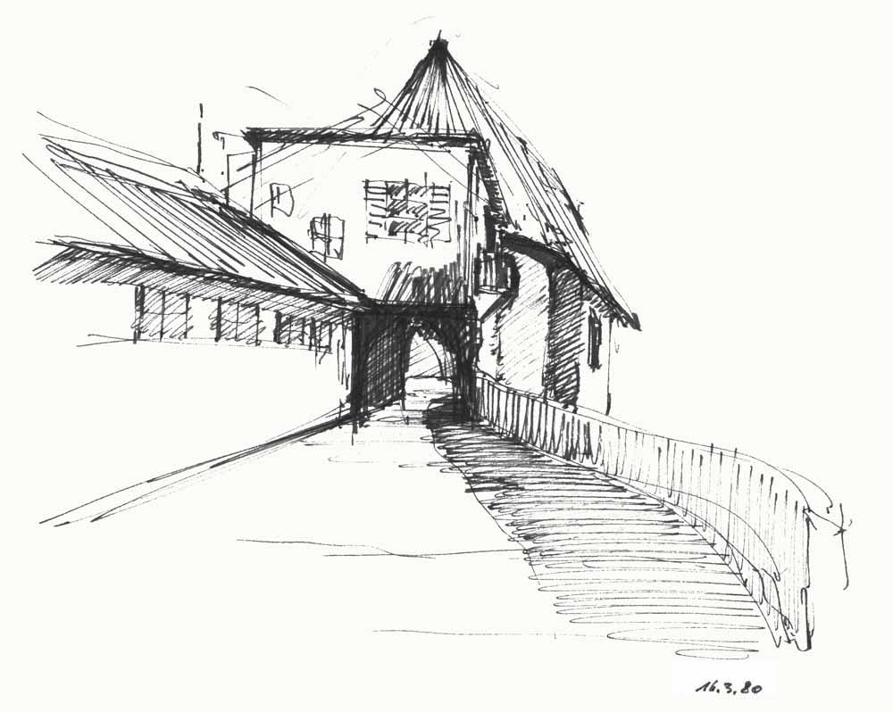 Zeichnung Kapelle